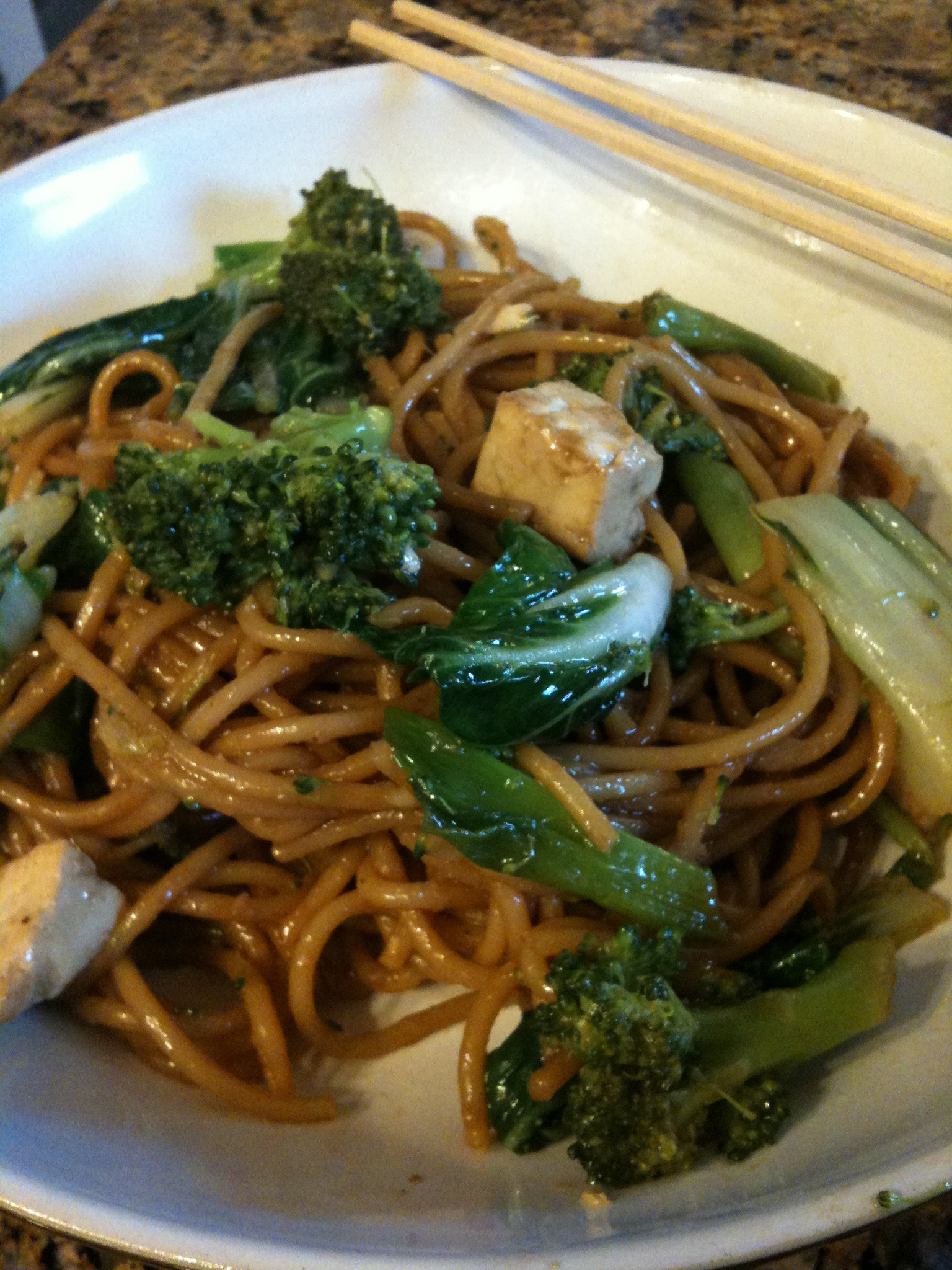 sesame ginger noodles with lots of other stuff.